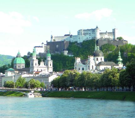 Salzburg castle on top of a hill