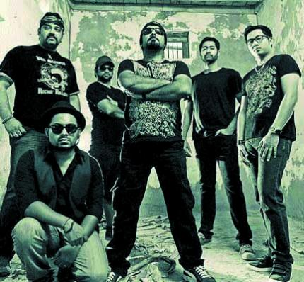 Members of the rock band Vin Sinners; (extreme right) Vinesh 'Vin' Nair 	COURTESY: www.facebook.com/vinsinners; www.vins