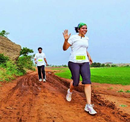 Running through the wilderness either barefoot or with in a pair of shoes, enhances the  jogging experience