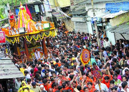 A Jagannath rathyatra was carried out by Sri Jagannath Seva Mandal of Saki Naka in Andheri (east) on Wednesday
